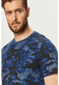 Niebieski t-shirt PRODUKT by Jack & Jones casualowy, na co dzień, z okrągłym kołnierzem