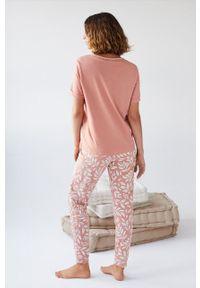 Women Secret - women´secret - Piżama. Kolor: pomarańczowy. Materiał: bawełna, dzianina. Długość: krótkie