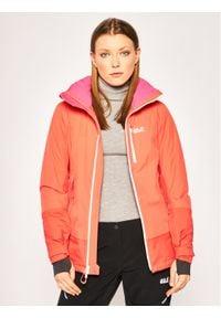 Pomarańczowa kurtka sportowa Jack Wolfskin snowboardowa