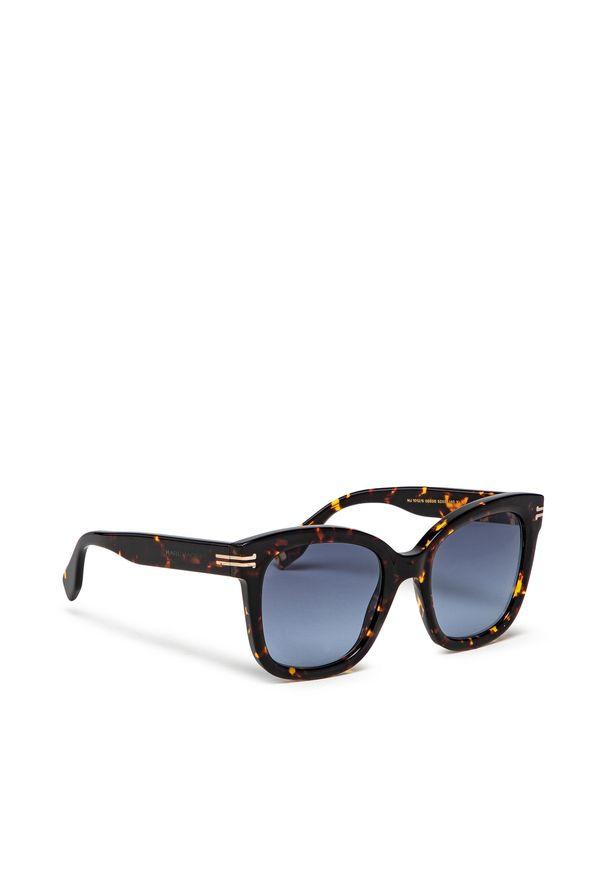 Okulary przeciwsłoneczne MARC JACOBS - 1012/S Havana 086. Kolor: brązowy, wielokolorowy, niebieski