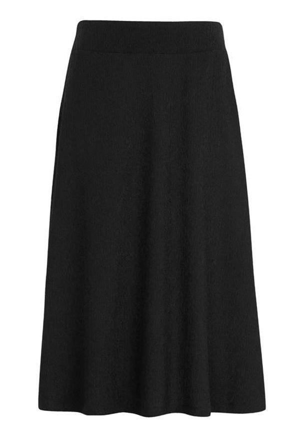 Cellbes Długa gnieciona spódnica Czarny female czarny 34/36. Kolor: czarny. Materiał: jersey, guma. Długość: długie