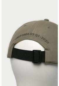 Oliwkowa czapka z daszkiem G-Star RAW z aplikacjami