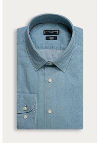 Niebieska koszula Tommy Hilfiger Tailored casualowa, długa