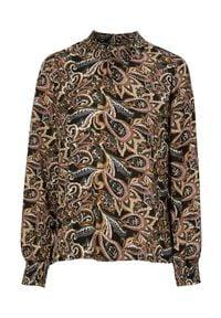Cream Bluzka z wiskozy we wzory Tulina Czarny we wzory female czarny/ze wzorem 38. Kolor: czarny. Materiał: wiskoza. Styl: elegancki