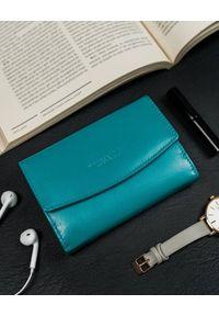4U CAVALDI - Portfel damski niebieski Cavaldi RD-DB-10-GCL-5937 S.. Kolor: niebieski. Materiał: skóra