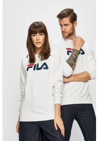 Biała bluza nierozpinana Fila na co dzień, casualowa, z nadrukiem
