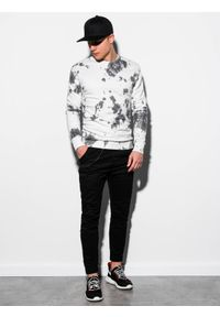 Biała bluza Ombre Clothing bez kaptura, klasyczna #5