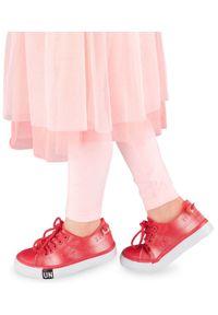 UNDERLINE - Trampki dziecięce Underline T-2-1013 Różowe. Zapięcie: sznurówki. Kolor: różowy. Materiał: tworzywo sztuczne, tkanina
