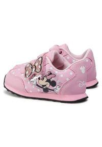 Różowe półbuty Minnie Mouse na spacer, z cholewką, z motywem z bajki