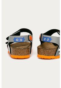 Pomarańczowe sandały Birkenstock na rzepy