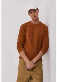 !SOLID - Sweter. Okazja: na co dzień. Kolor: brązowy. Materiał: dzianina, bawełna. Długość rękawa: długi rękaw. Długość: długie. Wzór: ze splotem. Styl: casual