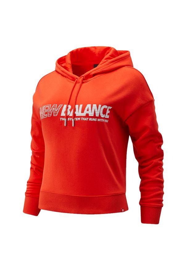 Bluza sportowa New Balance długa, z kapturem