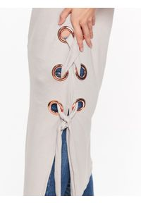 Beżowa tunika TOP SECRET na co dzień, w kolorowe wzory, długa, bez rękawów