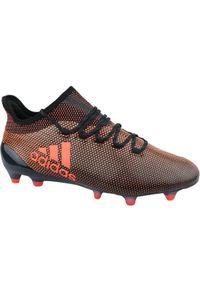 Czarne korki Adidas w kolorowe wzory, z cholewką