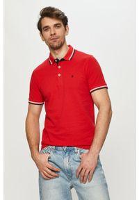 Czerwona koszulka polo Jack & Jones polo, casualowa, gładkie