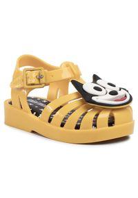 Żółte sandały melissa z aplikacjami, na lato