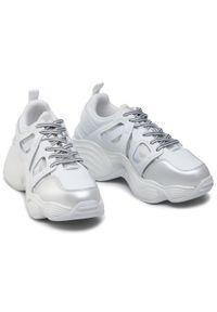 Białe sneakersy Emporio Armani z cholewką, na co dzień