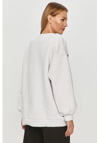Biała bluza Answear Lab bez kaptura, z długim rękawem, z nadrukiem