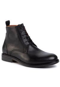 Czarne buty wizytowe Gino Rossi eleganckie