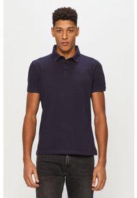 Niebieska koszulka polo Trussardi Jeans polo, klasyczna, na co dzień, gładkie