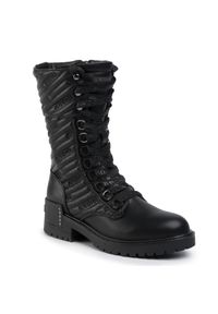Czarne buty trekkingowe SuperTrash