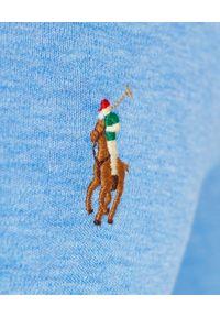 Ralph Lauren - RALPH LAUREN - Niebieska koszulka longsleeve Slim Fit. Typ kołnierza: polo. Kolor: niebieski. Materiał: bawełna. Długość rękawa: długi rękaw. Długość: długie
