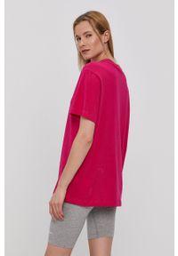 Nike Sportswear - T-shirt Air W. Okazja: na co dzień. Kolor: różowy. Materiał: bawełna, dzianina. Wzór: aplikacja. Styl: casual