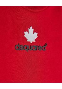 DSQUARED2 KIDS - Czerwona bluza z dwukolorowym logo 0-3 lata. Kolor: czerwony. Materiał: bawełna, tkanina. Długość rękawa: długi rękaw. Długość: długie. Wzór: nadruk. Sezon: lato