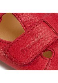 Czerwone półbuty Froddo na spacer, z cholewką, na rzepy