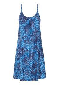 Niebieska sukienka Cellbes na plażę, na ramiączkach