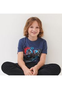 Sinsay - Koszulka Star Wars - Niebieski. Kolor: niebieski. Wzór: motyw z bajki