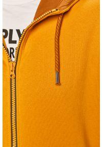 Żółta bluza rozpinana s.Oliver casualowa, na co dzień, z kapturem