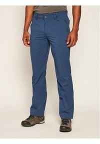 Niebieskie spodnie sportowe Jack Wolfskin outdoorowe