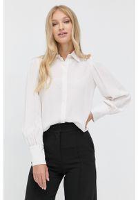 MAX&Co. - Koszula. Okazja: na co dzień. Kolor: biały. Materiał: tkanina. Długość rękawa: długi rękaw. Długość: długie. Wzór: gładki. Styl: casual