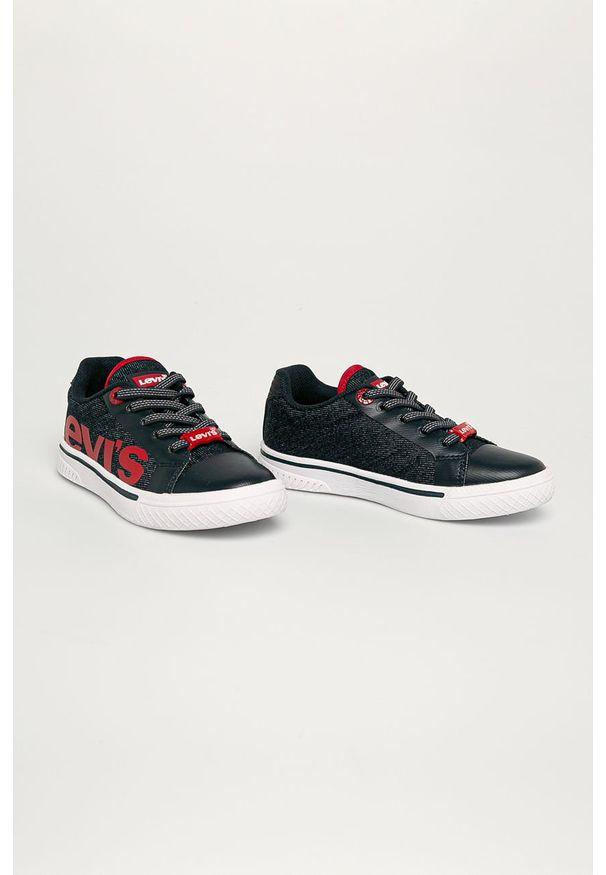 Buty sportowe Levi's® na sznurówki, w kolorowe wzory, z cholewką, z okrągłym noskiem