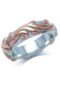 Braccatta - MORENA Srebrny pierścionek obrączka pozłacany unisex. Materiał: srebrne, pozłacane. Kolor: srebrny