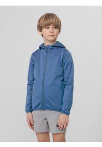 4f - Softshell chłopięcy (122-164). Kolor: niebieski. Materiał: softshell