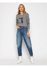 Trussardi Jeans Sweter 56M00351 Szary Regular Fit. Kolor: szary