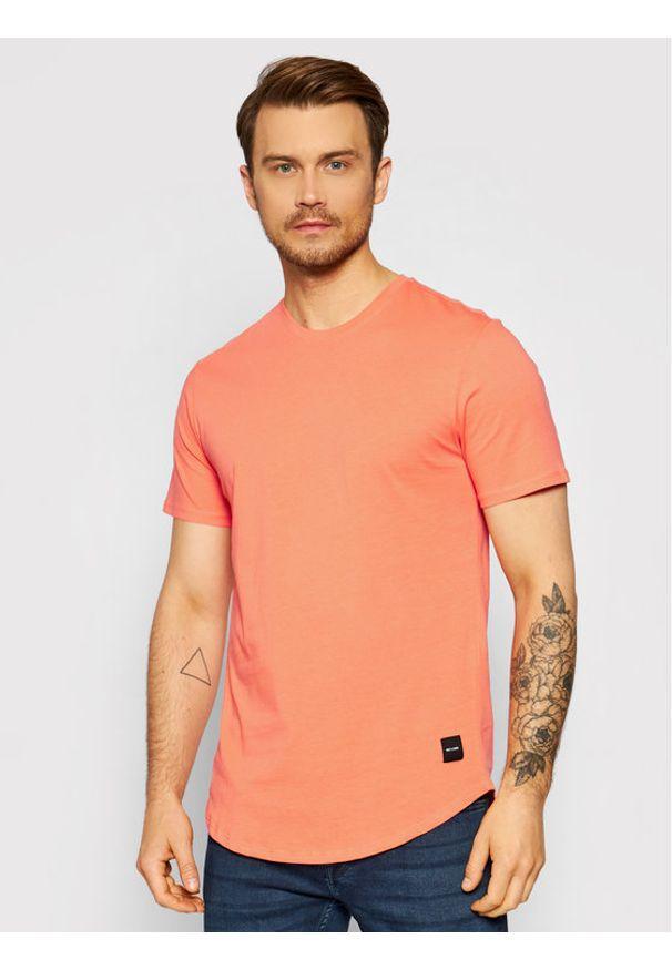 Only & Sons - ONLY & SONS T-Shirt Matt 22002973 Pomarańczowy Regular Fit. Kolor: pomarańczowy