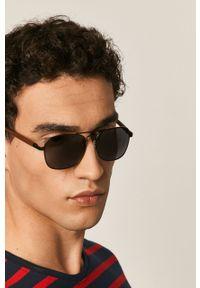 Czarne okulary przeciwsłoneczne medicine gładkie