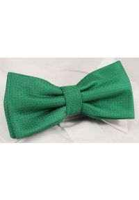 Zielona muszka Alties w geometryczne wzory, elegancka