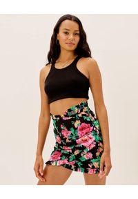 For Love & Lemons - FOR LOVE & LEMONS - Czarna spódnica w kwiaty Becca. Stan: podwyższony. Kolor: czarny. Wzór: kwiaty. Sezon: lato