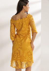Renee - Żółta Sukienka Glysvienne. Kolor: żółty