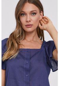 MAX&Co. - Koszula. Okazja: na co dzień. Kolor: niebieski. Długość rękawa: krótki rękaw. Długość: krótkie. Styl: casual