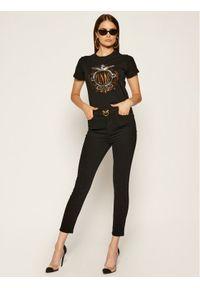 Czarne jeansy slim Pinko