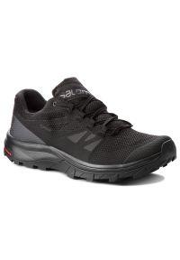 Czarne buty trekkingowe salomon z cholewką, Gore-Tex, trekkingowe