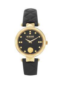Versus Versace - Zegarek VSPHK0220. Kolor: czarny. Materiał: skóra, materiał