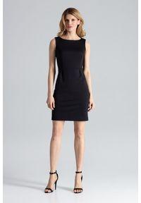 Czarna sukienka Figl bez rękawów, ołówkowa