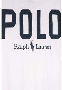 Biała bluzka z długim rękawem Polo Ralph Lauren casualowa, polo, na co dzień, długa