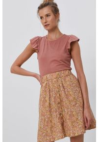 Y.A.S - Spódnica. Kolor: brązowy. Materiał: tkanina, bawełna